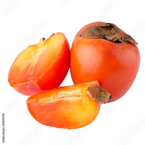 Persimmon with slice