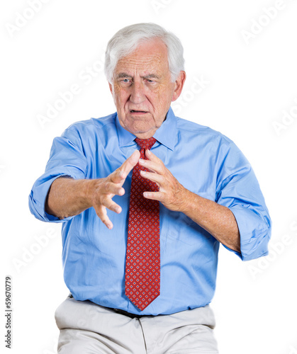 Old man having trouble to recall information, has memory lossoss