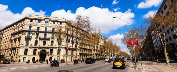 View of Barcelona, Spain. Gran Via
