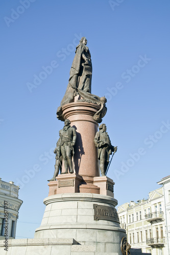 Monument to the founders of Odessa. 1900 year