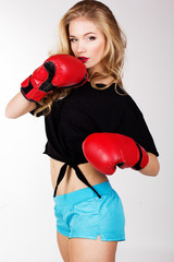 Sexy boxing Woman