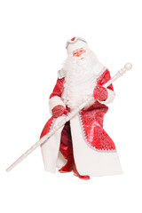 Santa Claus sitting with a staff