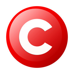 bouton internet copyright icon white background