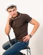 Man sitting poses.