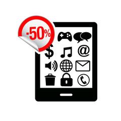 вектор распродажа мобильных телефонов
