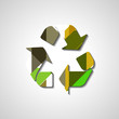 Recycle Symbol, abstract style illustration, for eco