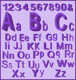 Letters-Purple with Numbers