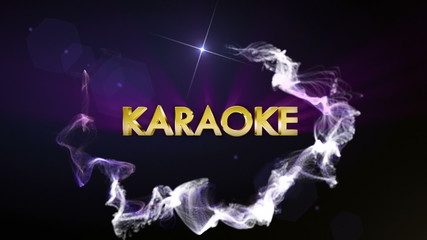 Karaoke Gold Text in Particles, with Final White Transition