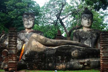 Kamphaeng Phet Historical Park Aranyik Area,Buddha of thailand
