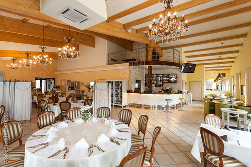 Mediterranean interior - luxurious restaurant