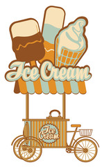 tray on wheels for ice cream sales