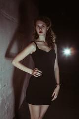 film noir girl in the retro image