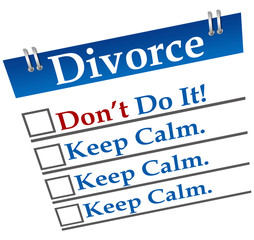 Divorce Don't Do It