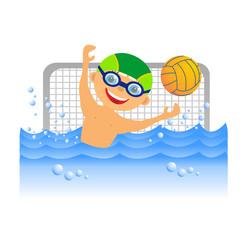 Boy water polo player