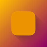 Orange Abstract App Icon Blank Template
