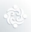 Business label white icon vector design 4