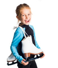 Little girl with skates