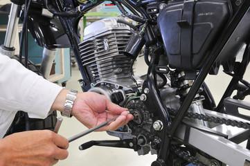 バイクの整備