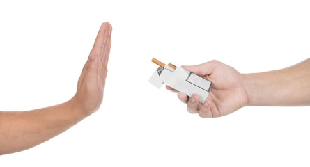 No thanks! Quit smoking concept