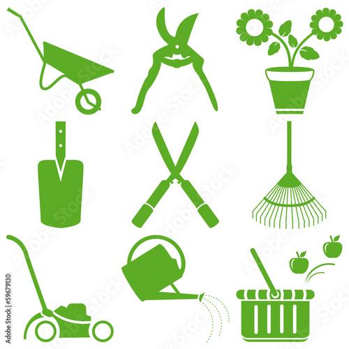 Outils de jardinage printemps fichier vectoriel libre for Achat en ligne jardinage