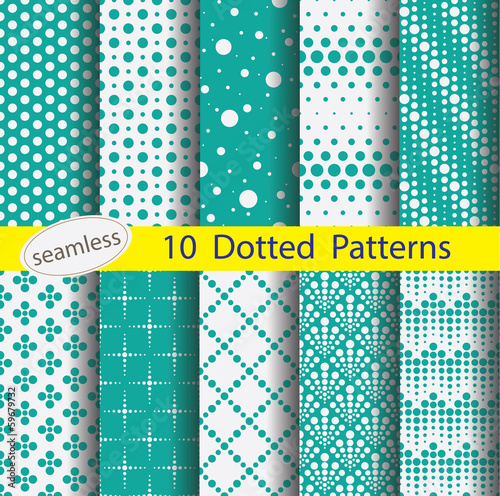 Fototapeta dotted pattern unit collection for making seamless background