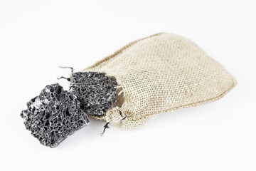 Coal sweet sugar with sack
