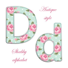 Fabric letter D