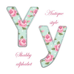 Fabric letter Y