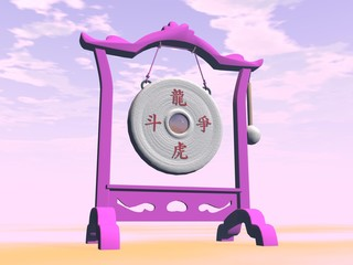 Pink gong - 3D render