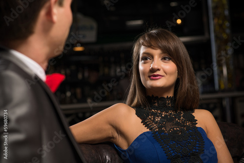 portrait of a woman in a nightclub