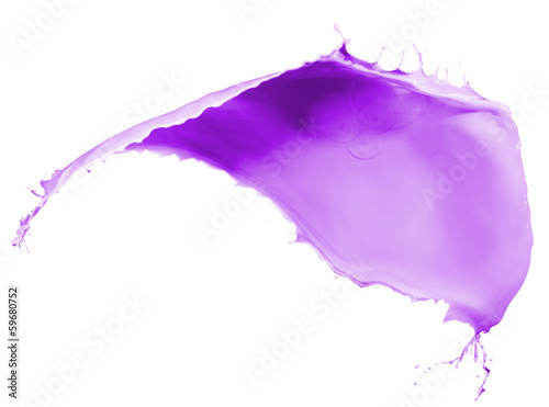purple paint splash