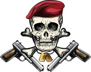Skull in the beret
