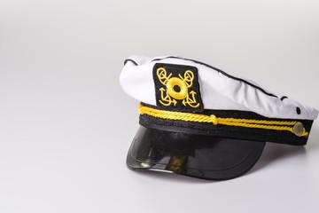 White Nautical hat isolated on white background