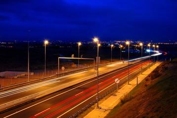 Evening, highway A22. Lleida, Catalonia
