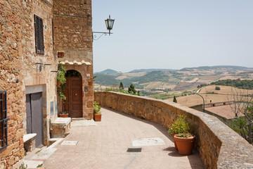 Pienza and Tuscany hills