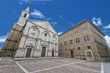 Pienza Tuscany medieval dome