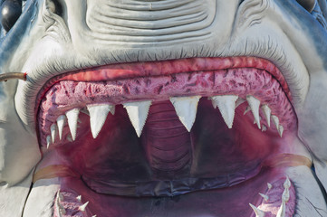 Jaws made of Papier mache