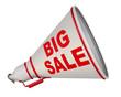 Big sale (большая распродажа). Рупор с надписью