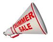 Summer sale (летняя распродажа). Рупор с надписью