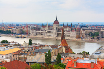 Budapest view of the Parliament