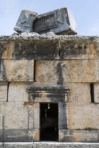 Ruins in Northern Necropolis of Hierapoli, Denizli, Turkey