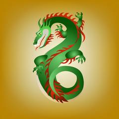 Fantastic green dragon