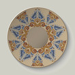 Plate with an ornament in the ancient Greek style