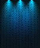 Spotlight background blue