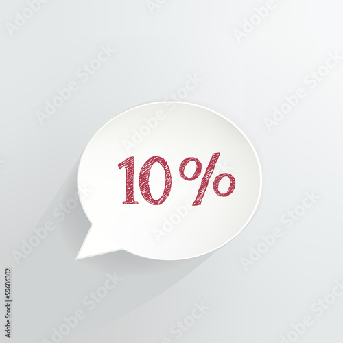 Ten Percent Off Speech Bubble
