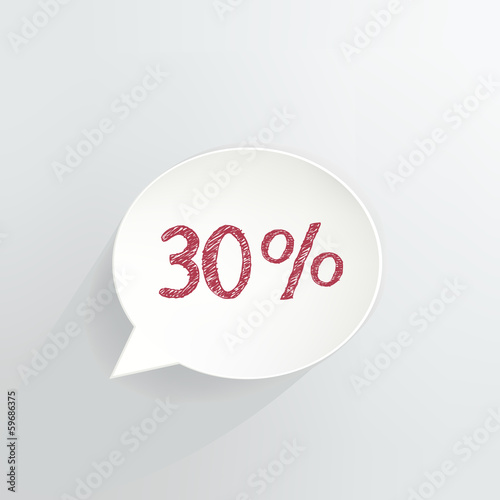 Thirty Percent Off Speech Bubble