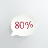 Eighty Percent Off Speech Bubble