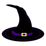 Vector witch hat