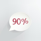 Ninety Percent Off Speech Bubble