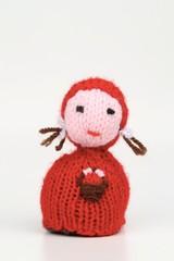 bambola in lana di cappuccetto rosso